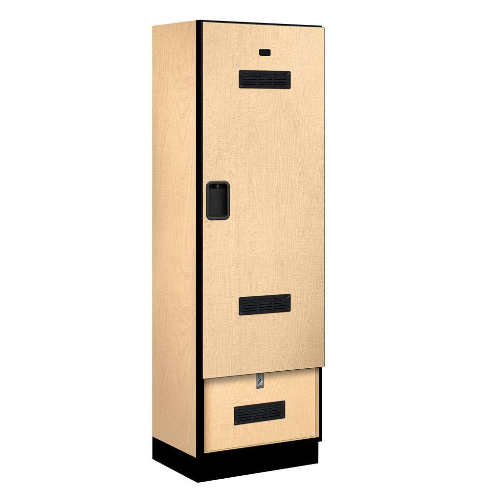 Salsbury Industries 30000 Series 24 in. W x 76 in. H x 18.75 in. D Designer Gear Locker in Maple