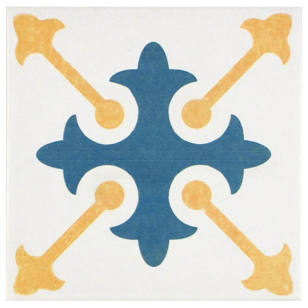 Merola Tile Revival Spectrum 7-3/4 in. x 7-3/4 in. Ceramic Floor ...