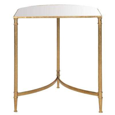 Nevin Gold Mirror Top End Table