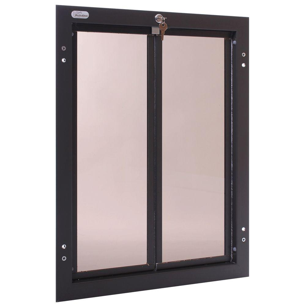 PlexiDor Performance Pet Doors 16 in. x 23.75 in. Chew Proof XLarge Bronze Door Mount Dog Door