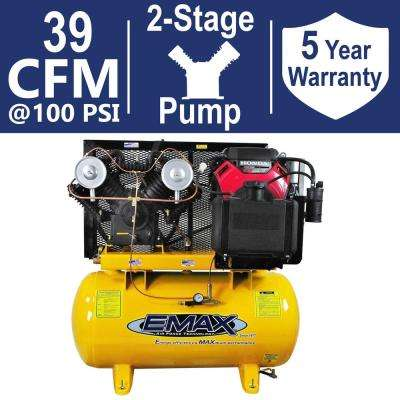 INDUSTRIAL PLUS 30 Gal. 18 HP 2-Stage Stationary Gas Truck Mount Air Compressor
