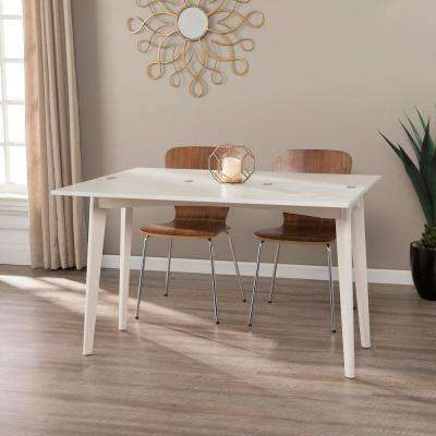 Holland White Convertible Console to Dining Table