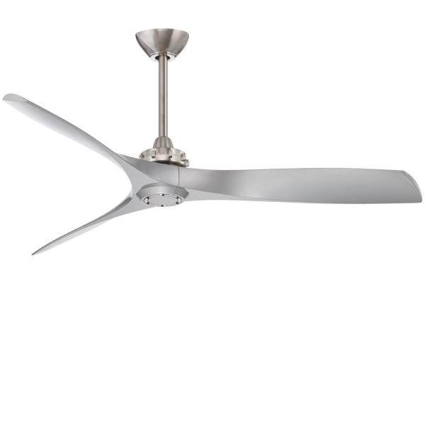 Aviation 60 in. Indoor Brushed Nickel and Silver Ceiling Fan with Remote Control