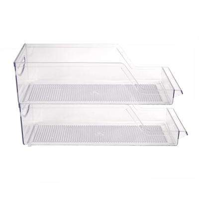 Clear Stackable Acrylic Soda Can Holder (2-Pack)