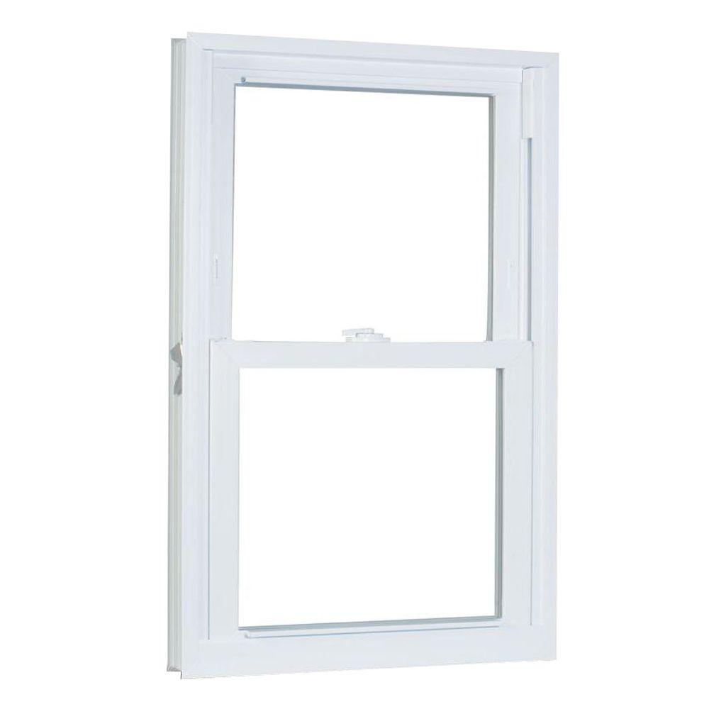 American Craftsman 27.75 in. x 61.25 in. 70 Series Double Hung Buck Vinyl Window - White