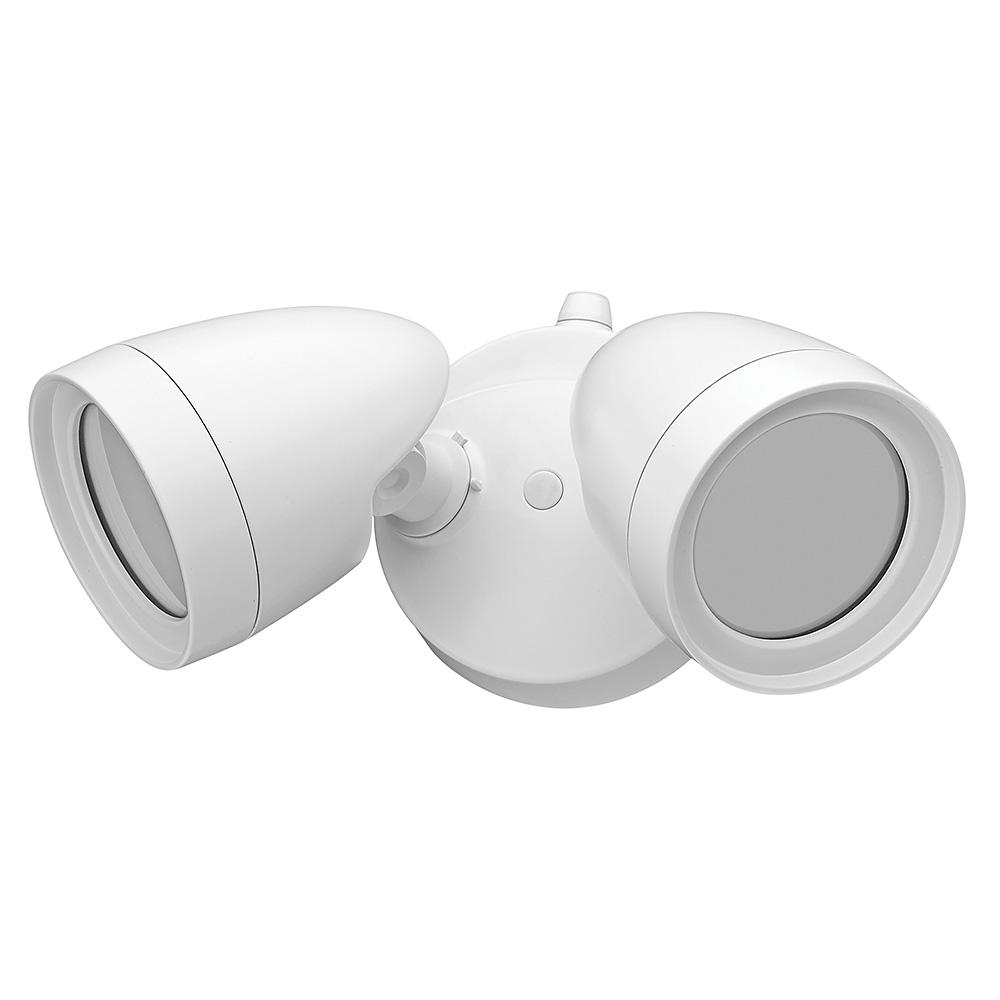 Defiant 2 Head White Outdoor Integrated Led Security Flood