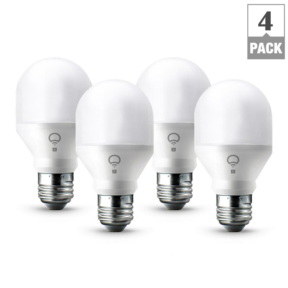 60W Equivalent Mini Day and Dusk A19 Dimmable Wi-Fi Smart Connected
