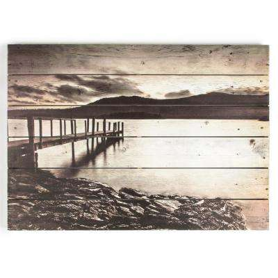 "20 in. x 28 in. ""Tranquil Jetty"" Wooden Wall Art"