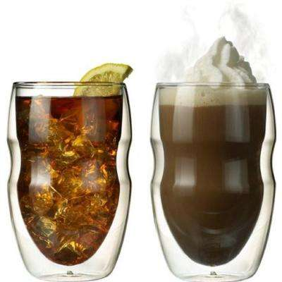 Serafino Double Wall 12 oz. Beverage and Coffee Insulated Drinking Glasses (Set of 2)