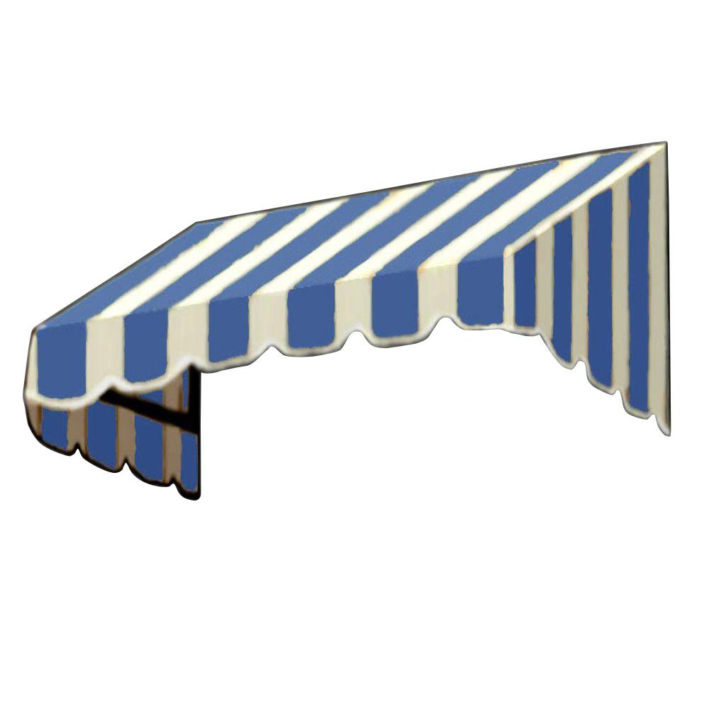 AWNTECH 20 ft. San Francisco Window/Entry Awning (44 in. H x 48 in. D) in Bright Blue/White Stripe