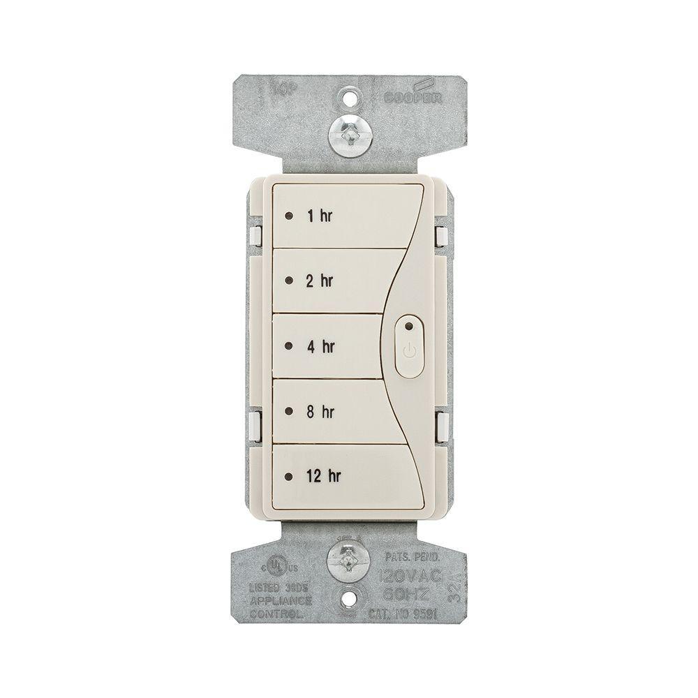 Aspire 1800-Watt 15 Amp 5-Button Hour Timer - Desert Sand