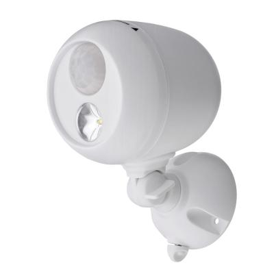 Outdoor 140 Lumen Battery Powered Motion Activated Integrated LED Spotlight, White
