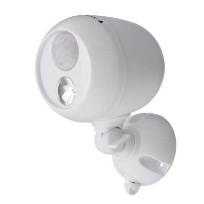 Outdoor White Wireless Motion Sensing LED Spot Light