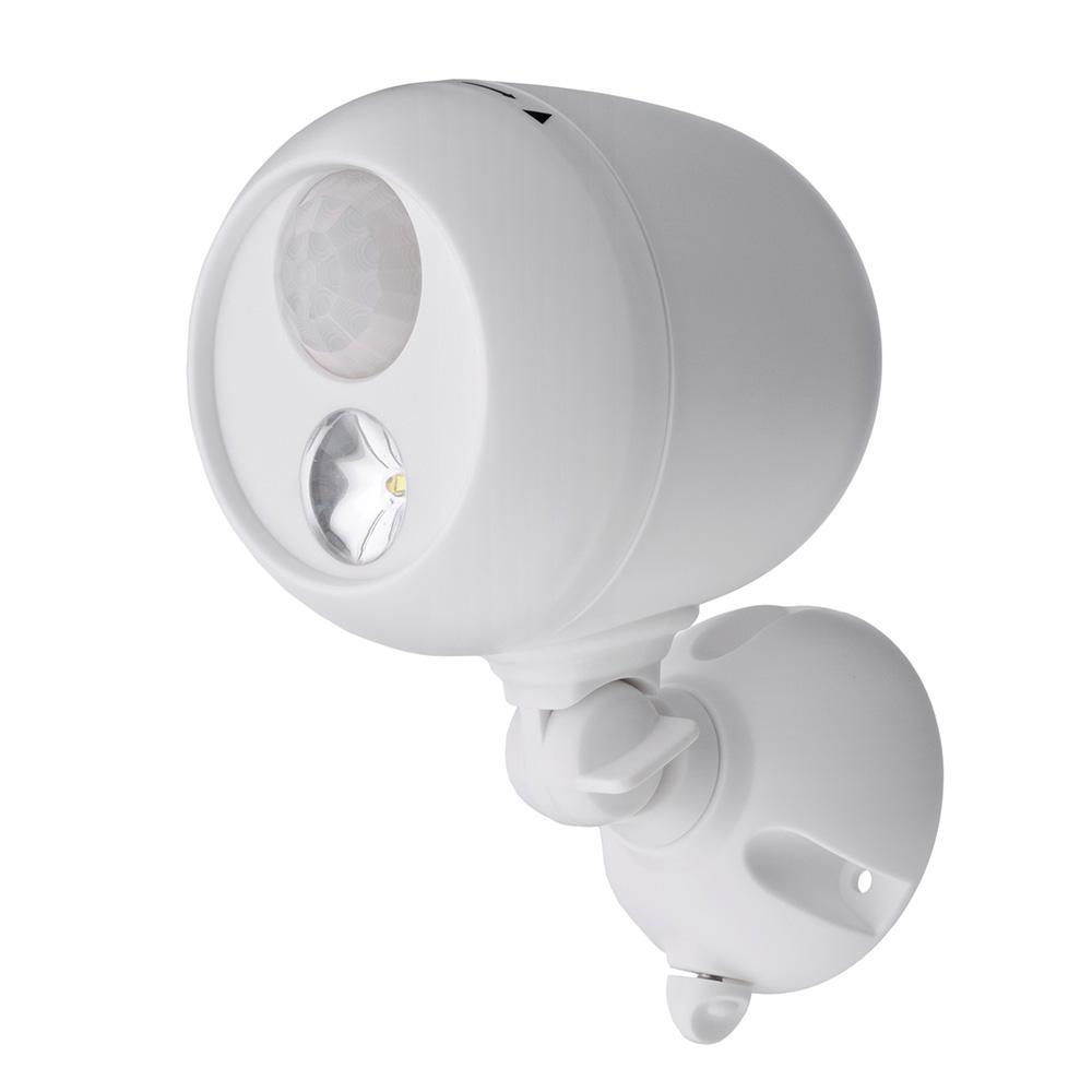 Outdoor White Wireless Motion Sensing LED Spot Light