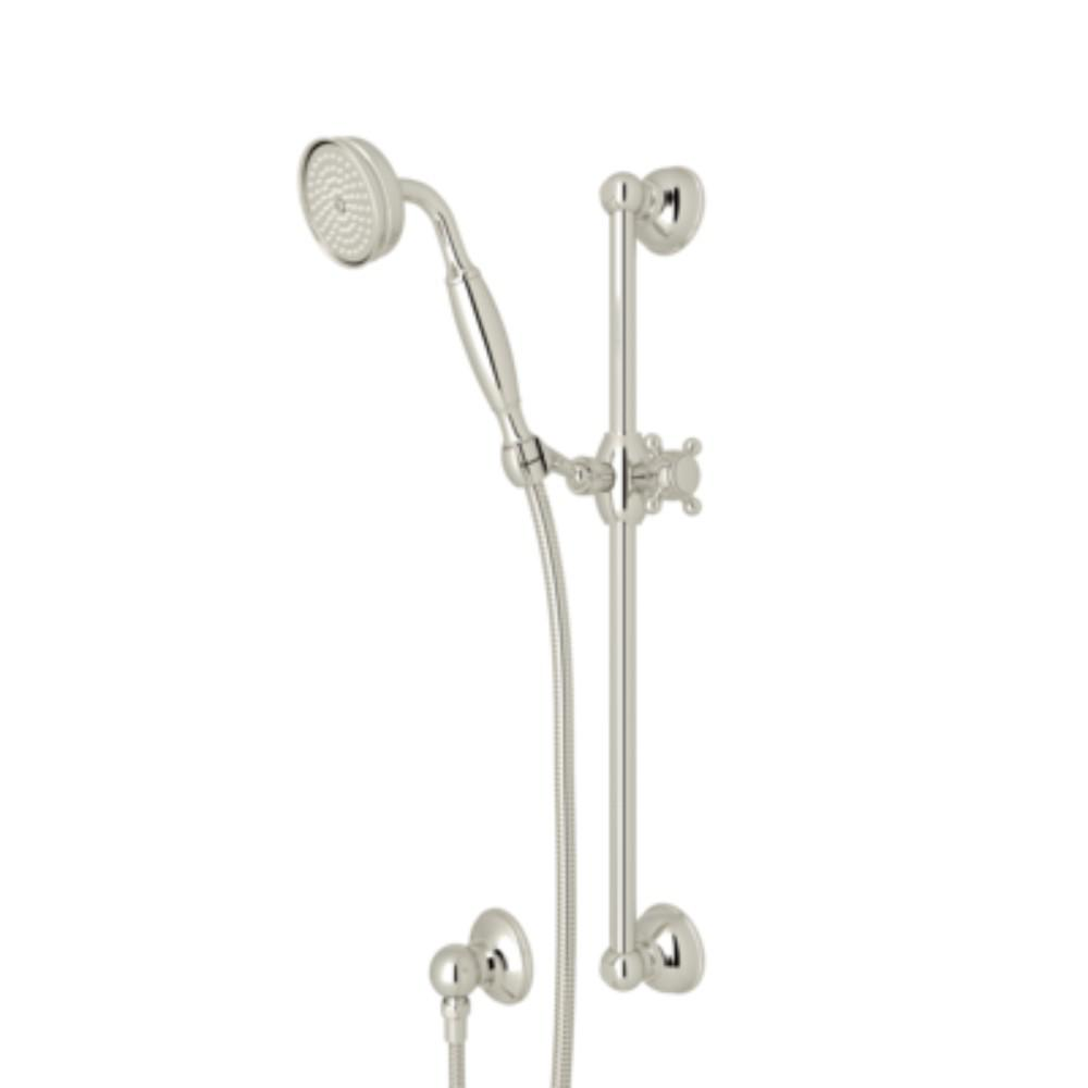 ROHL Country 1-Spray Wall Bar Shower Kit with Hand Shower in Polished Nickel