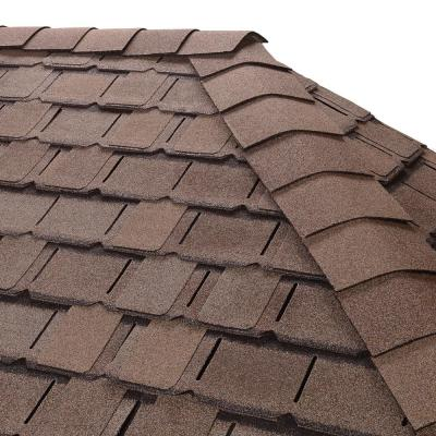 Timbertex Weathered Timber Double-Layer Hip and Ridge Cap Roofing Shingles (20 lin. ft. per Bundle) (30-pieces)