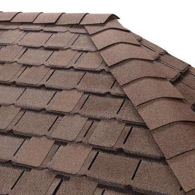 Timbertex Weathered Timber Premium Hip and Ridge Shingles (20 linear ft. per Bundle)