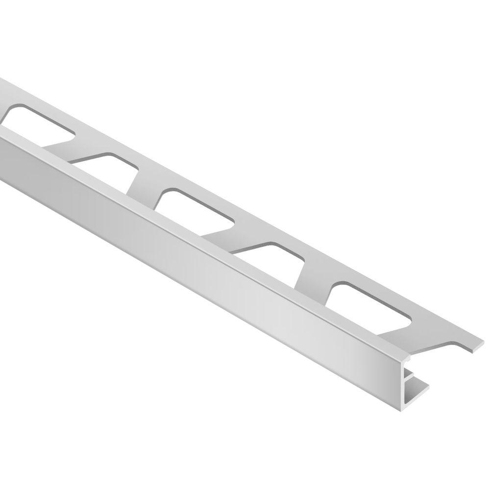 Schluter Schiene Satin Anodized Aluminum 3/8 in. x 8 ft. 2-1/2 in. Metal L-Angle Tile Edging Trim
