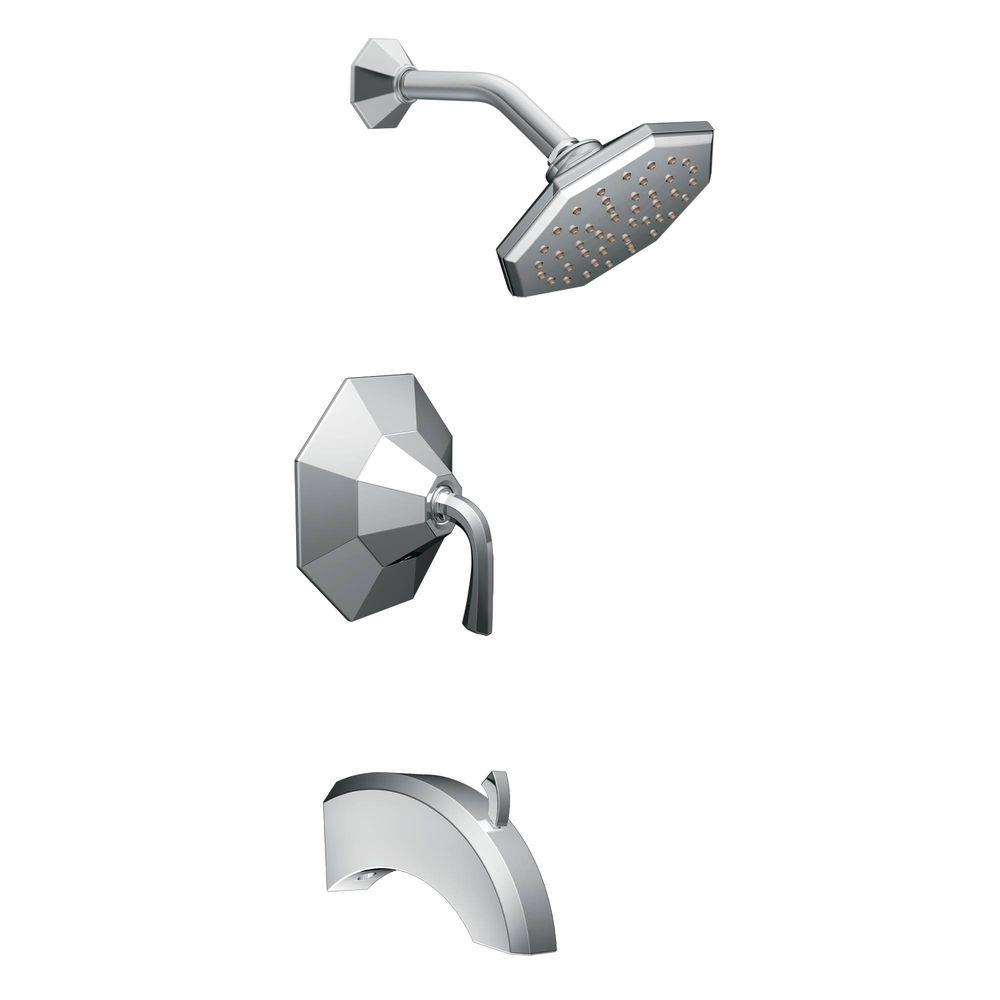MOEN Felicity 1-Handle Posi-Temp Tub and Shower Trim Kit in Chrome (Valve not included)