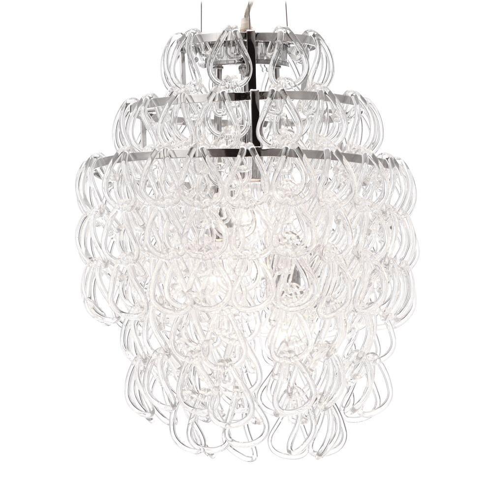 Cascade Chrome Ceiling Lamp