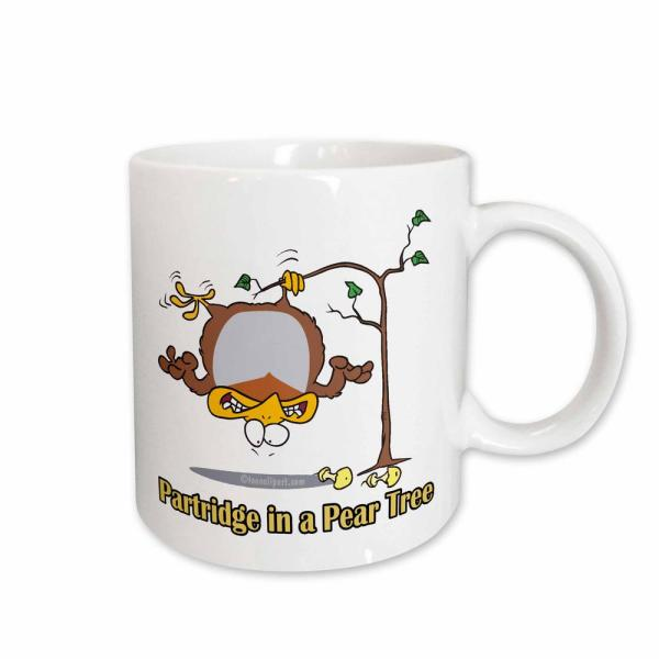 Random Toons Partridge In Coffee OzWhite Ceramic A Dooni Mug Pear Tree Designs 11 sdQCthrx
