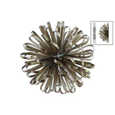 5.25 in. H Sculpture Decorative Sculpture in Champagne Electroplated