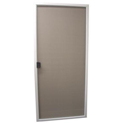 35.5 in x 77.875 in. 50 and 70 Series White Vinyl Sliding Patio Insect Screen Door