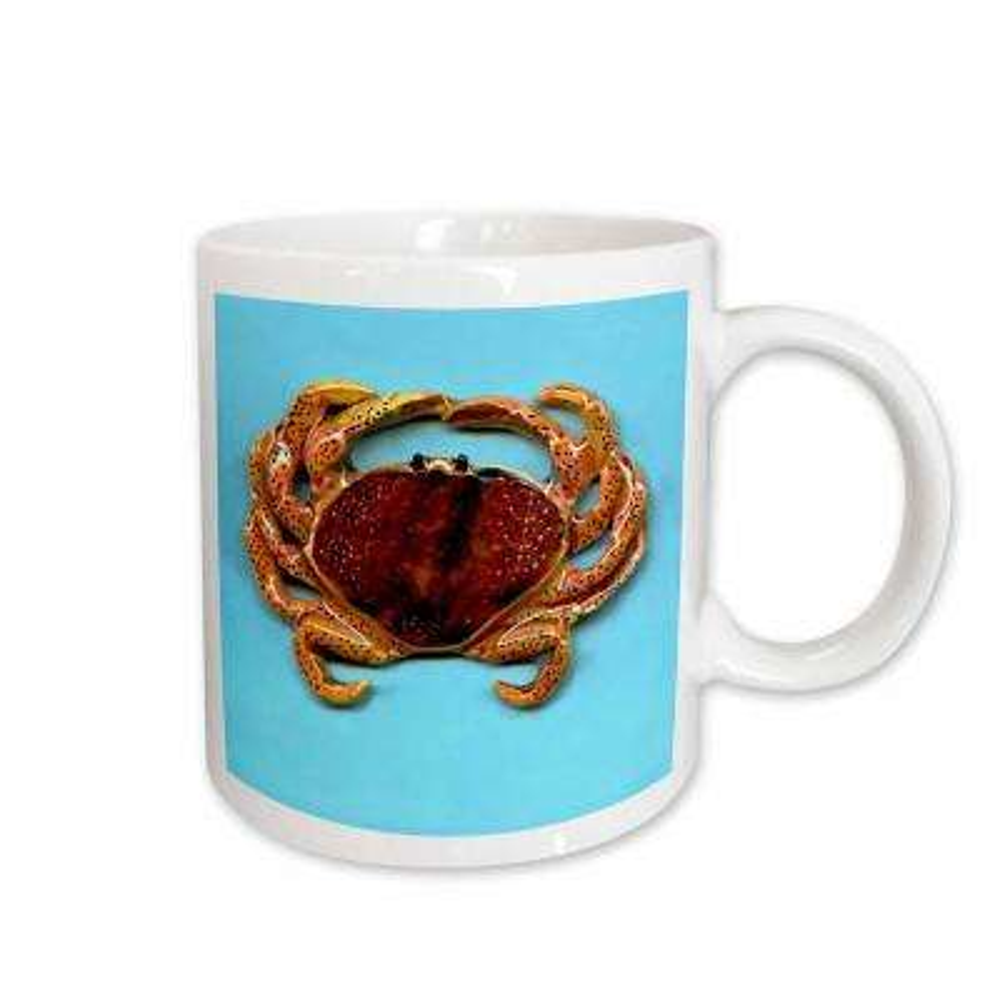 Fishing 11 oz. White Ceramic Crab Mug