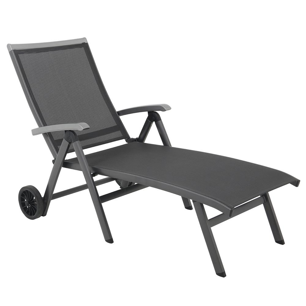 Royal Garden Ludwig Sling Outdoor Folding Chaise Lounge