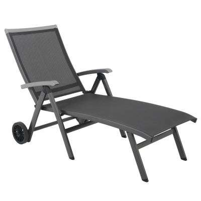 Ludwig Sling Outdoor Folding Chaise Lounge