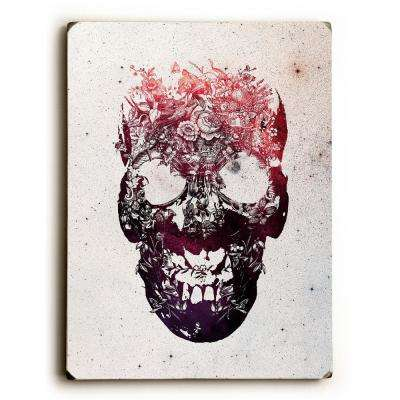 "9 in. x 12 in. ""Floral Skull"" by Ali Gulec Solid Wood Wall Art"