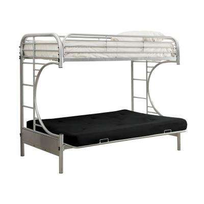 Silver Opal Metal Twin Bed with Futon Base