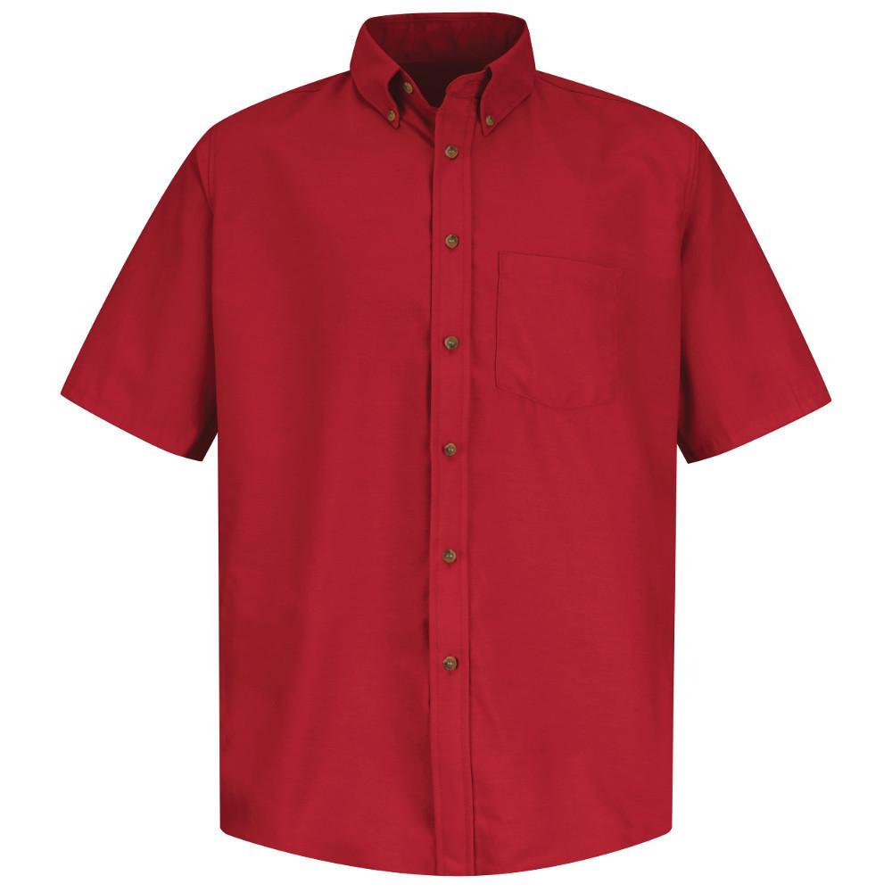 Red Kap Uniforms Men's Size L (Tall) Red Poplin Dress Shi...