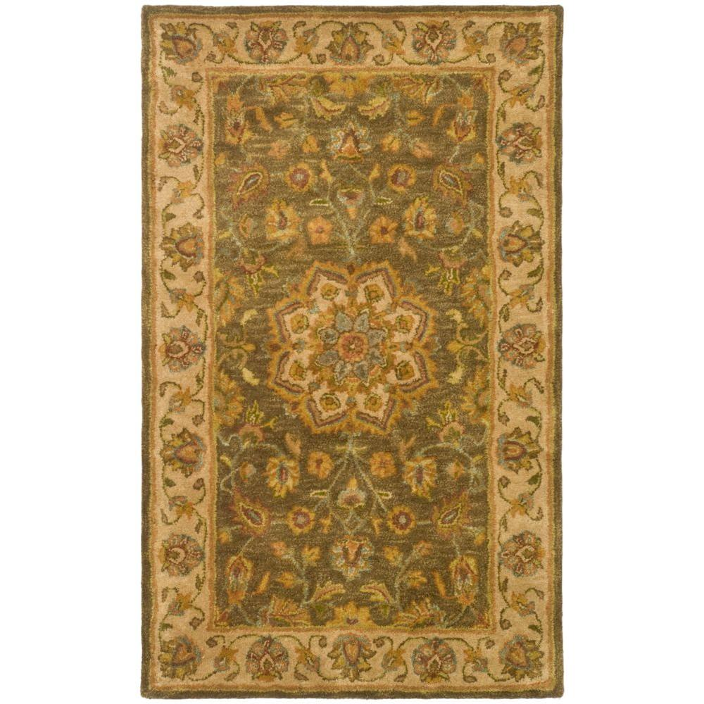 Heritage Green/Taupe 3 ft. x 5 ft. Area Rug
