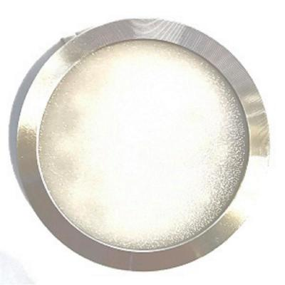 LED Hard Wired LED Stainless Steel 3000K Ultra Low Profile Under Cabinet Puck Light Kit