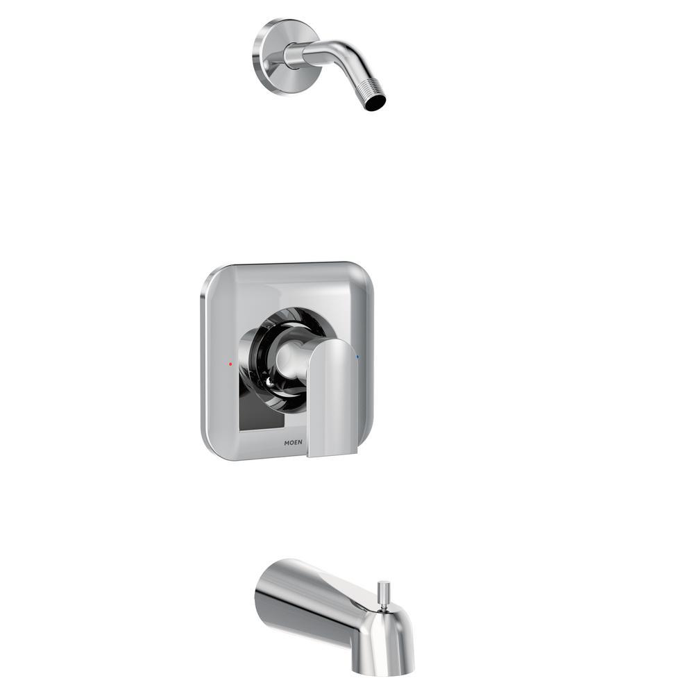 MOEN Genta 1-Handle Tub and Shower Faucet Trim Kit in Chrome ...