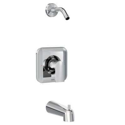 Genta 1-Handle Tub and Shower Faucet Trim Kit in Chrome (Shower Head and Valve Not Included) (Valve Not Included)