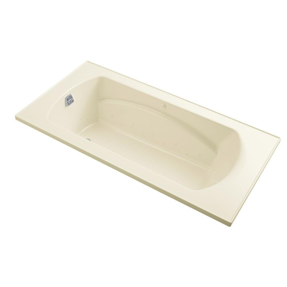 STERLING Lawson 60 in. Vikrell Rectangular Drop-in Air Bathtub in White
