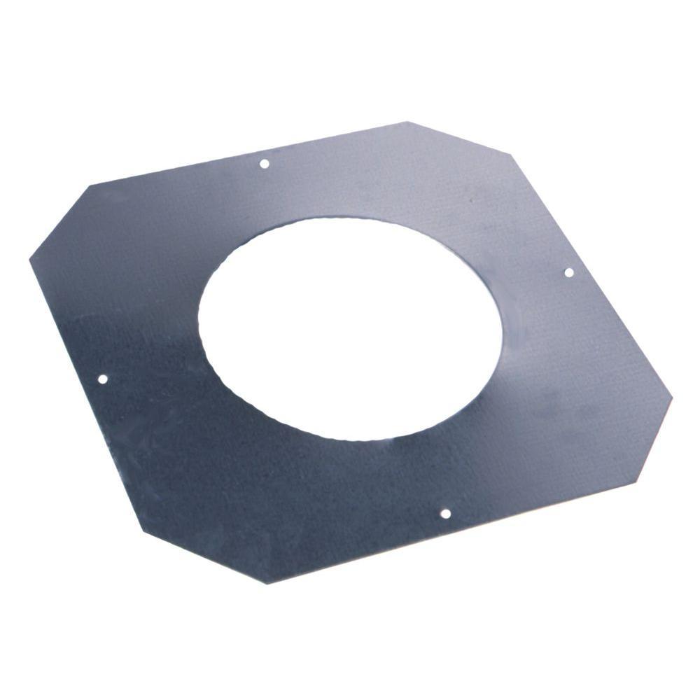 Master Flow 8 in. 24-Gauge Stainless Steel Ceiling Collar