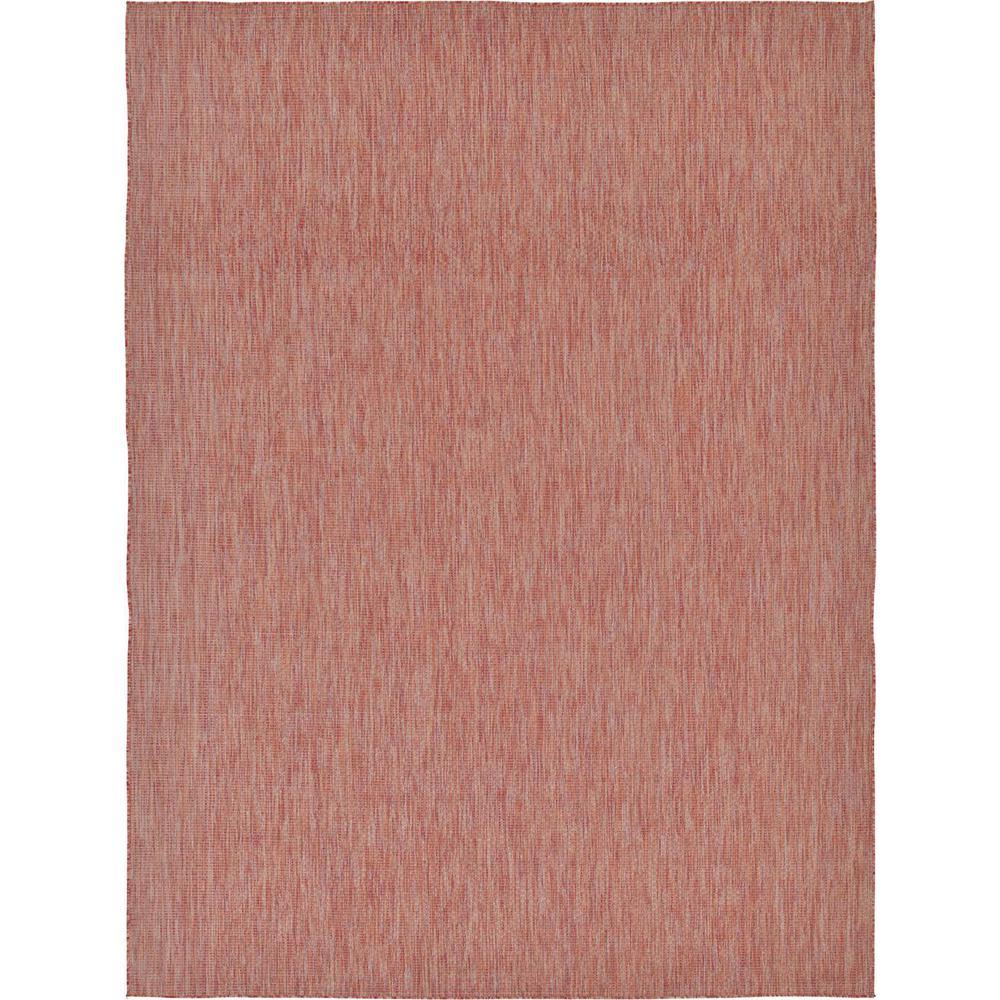 Outdoor Solid Rust Red 9' 0 x 12' 0 Area Rug