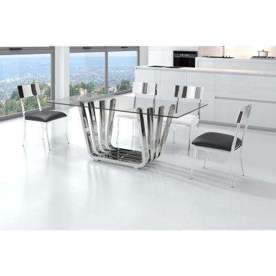 Fan Chrome Dining Table