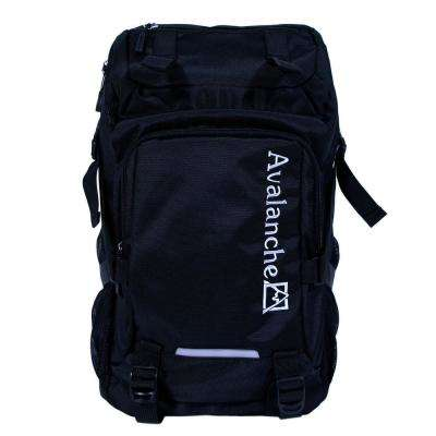 Avalanche 20 in. Black Orem Daypack Backpack, Top Load Design