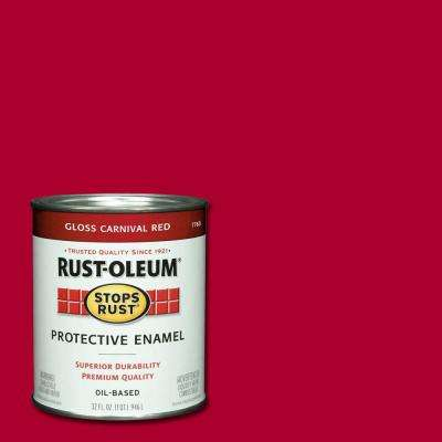 1 qt. Gloss Carnival Red Protective Enamel Paint (Case of 2)