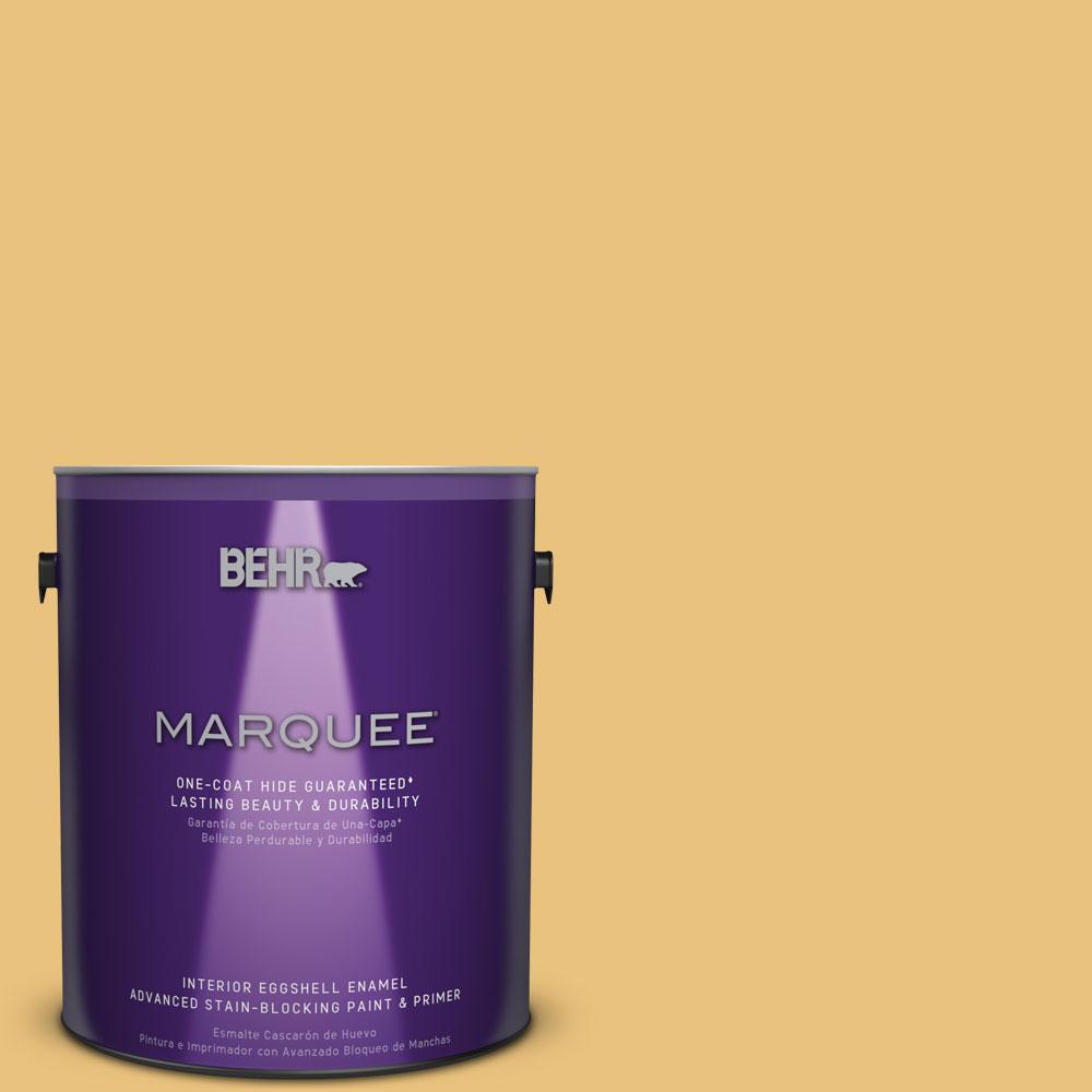 1 gal. #MQ4-13 Golden Thread One-Coat Hide Eggshell Enamel Interior Paint