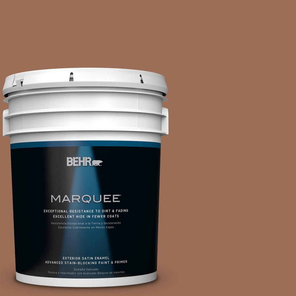 BEHR MARQUEE 5-gal. #S210-6 Cinnamon Crunch Satin Enamel Exterior Paint