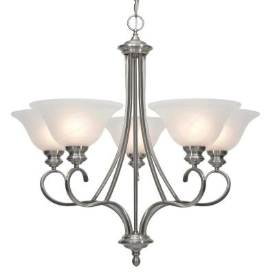 Lancaster Collection 5-Light Pewter Chandelier