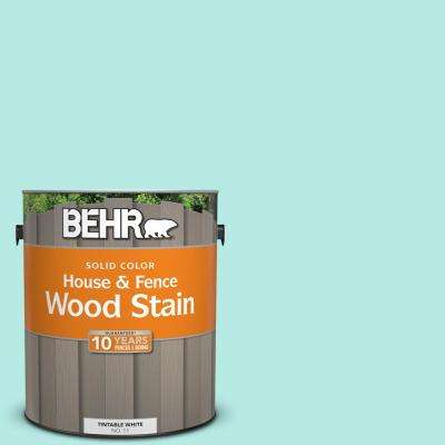 1 gal. #P450-2 Tahitian Breeze Solid House and Fence Exterior Wood Stain