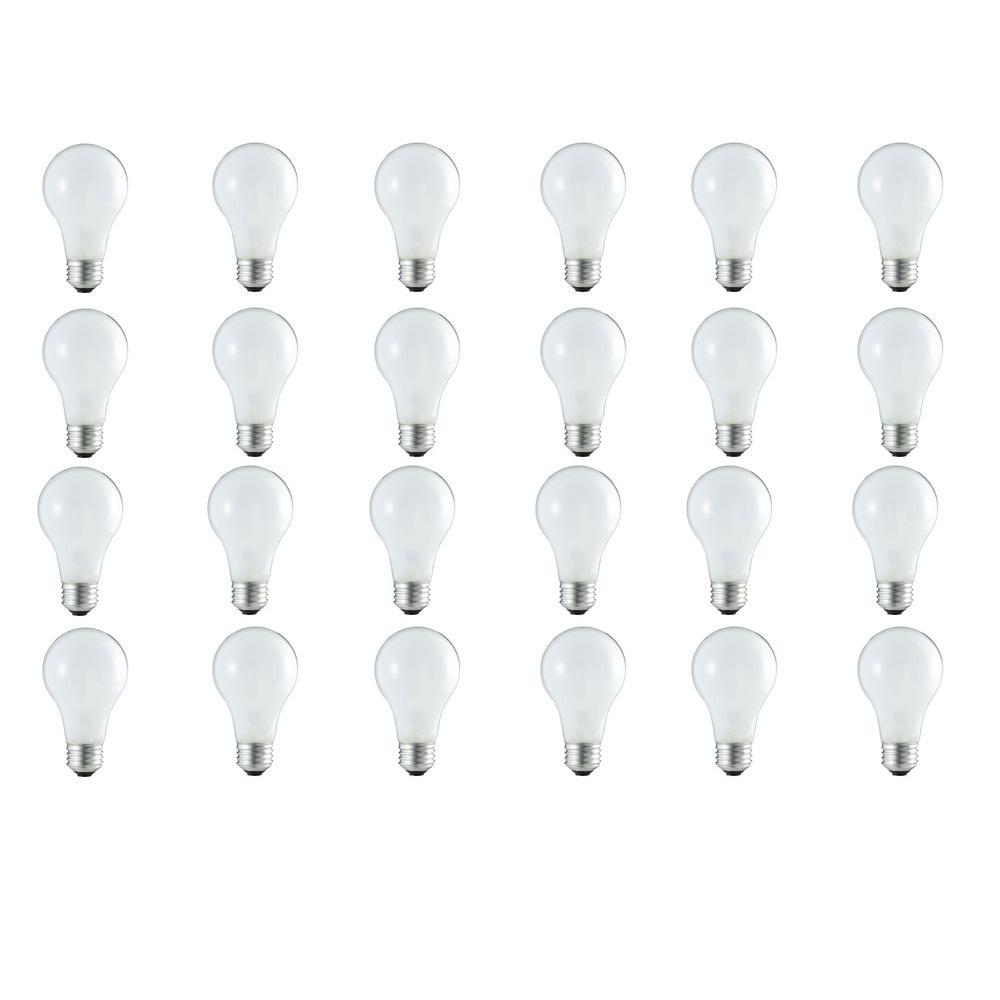 100-Watt Equivalent A19 Dimmable Energy Efficient Halogen Light Bulb Soft White (3000K) (24-Pack)