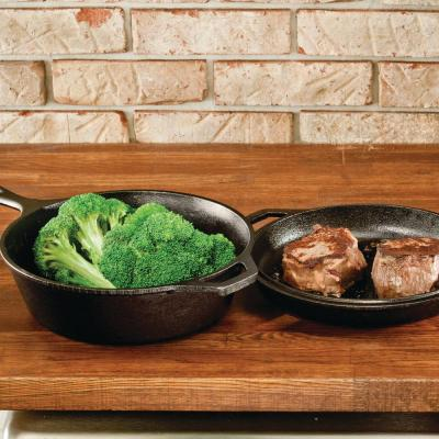 2-Piece Cast Iron Cookware Set in Black
