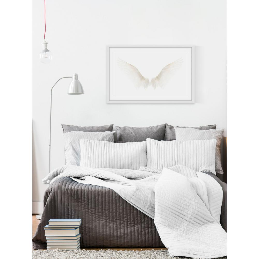 """16 in. H x 24 in. W """"White Wings"""" by Marmont"""